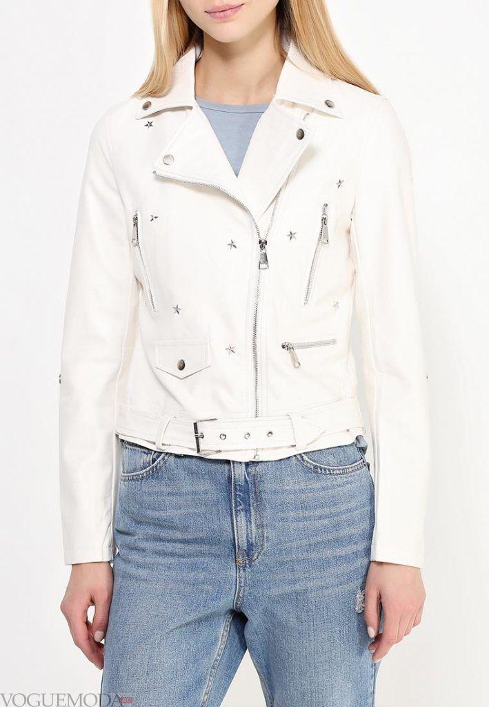 куртка косуха белая