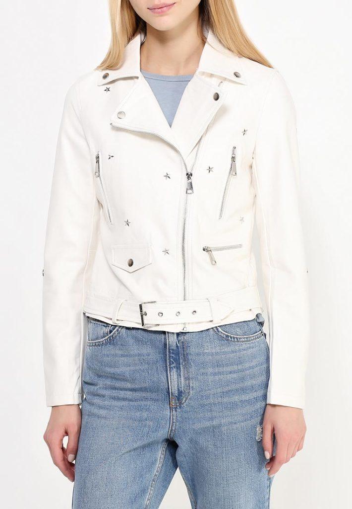 куртки косухи: белая