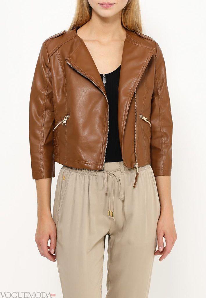 куртка косуха коричневая