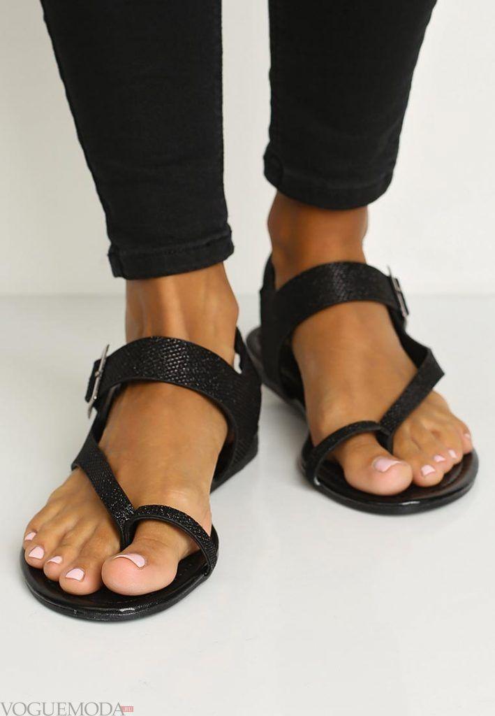 гладиаторские сандали черные
