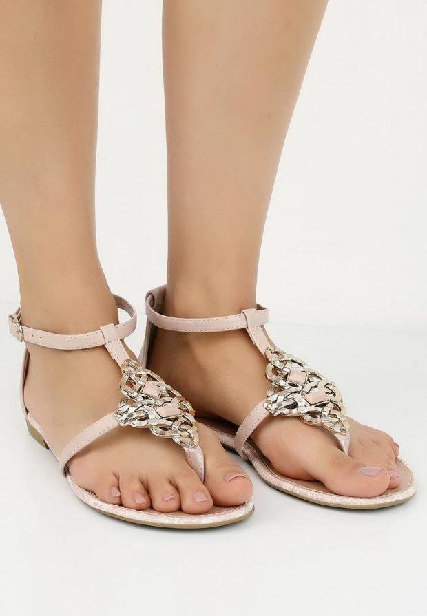 гладиаторские сандали с декором