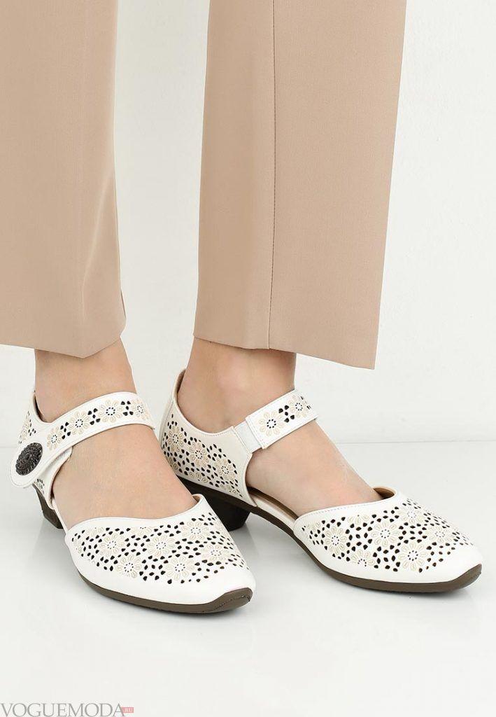 летние туфли белые