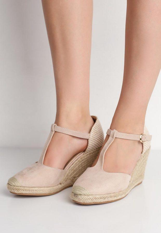 летние туфли бежевые