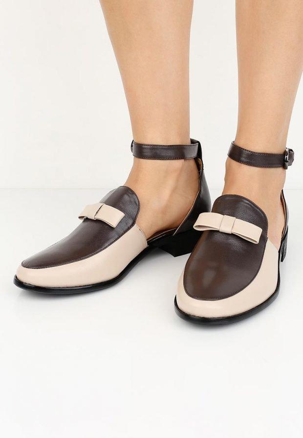 летние туфли двухцветные