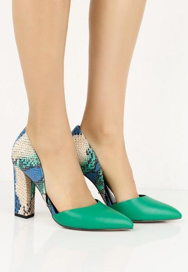летние туфли зеленые