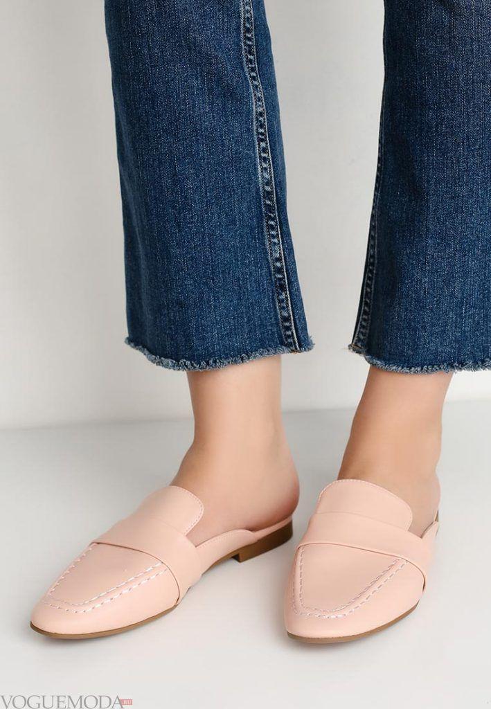 летняя обувь бежевая