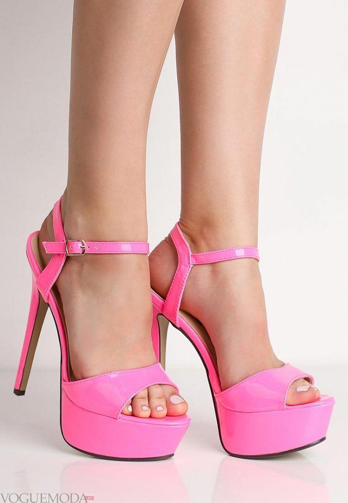 летняя обувь розовая