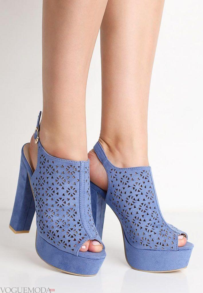 летняя обувь синяя