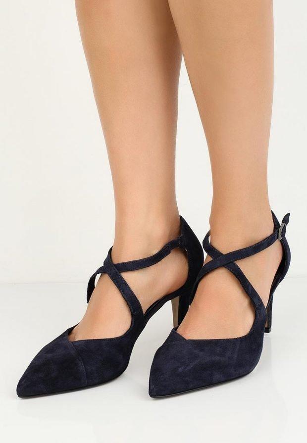 летняя обувь с переплетом