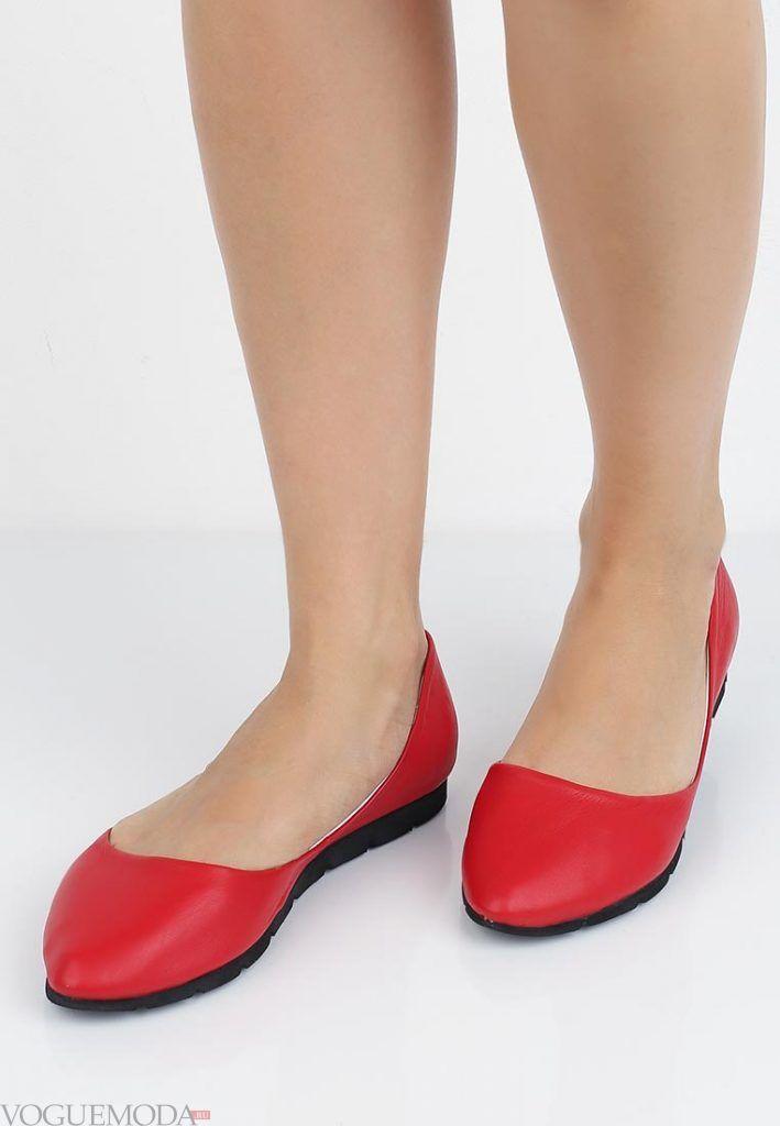 летние балетки красные