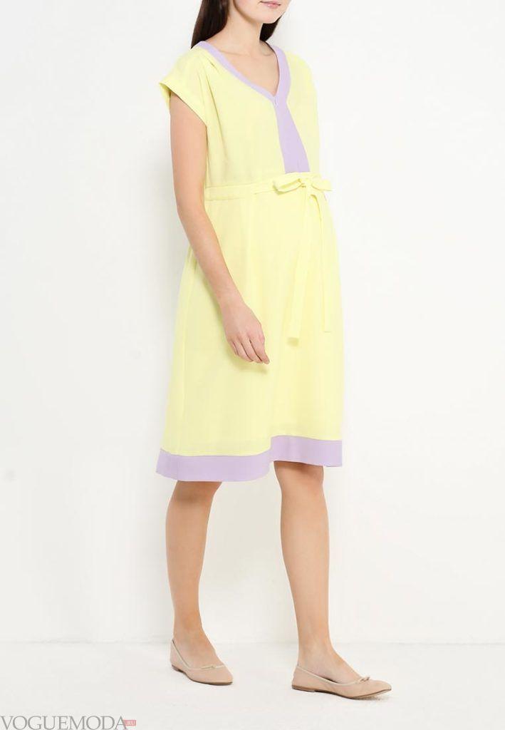 платье для беременных жёлтое