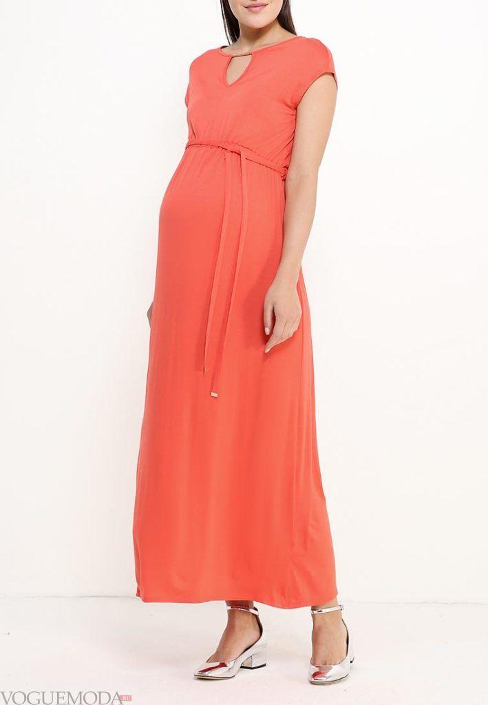 платье для беременных красное