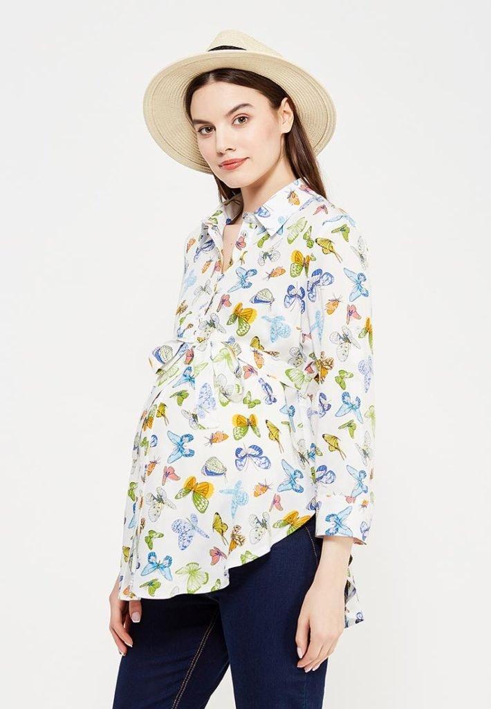 Мода для беременных: туника цветная