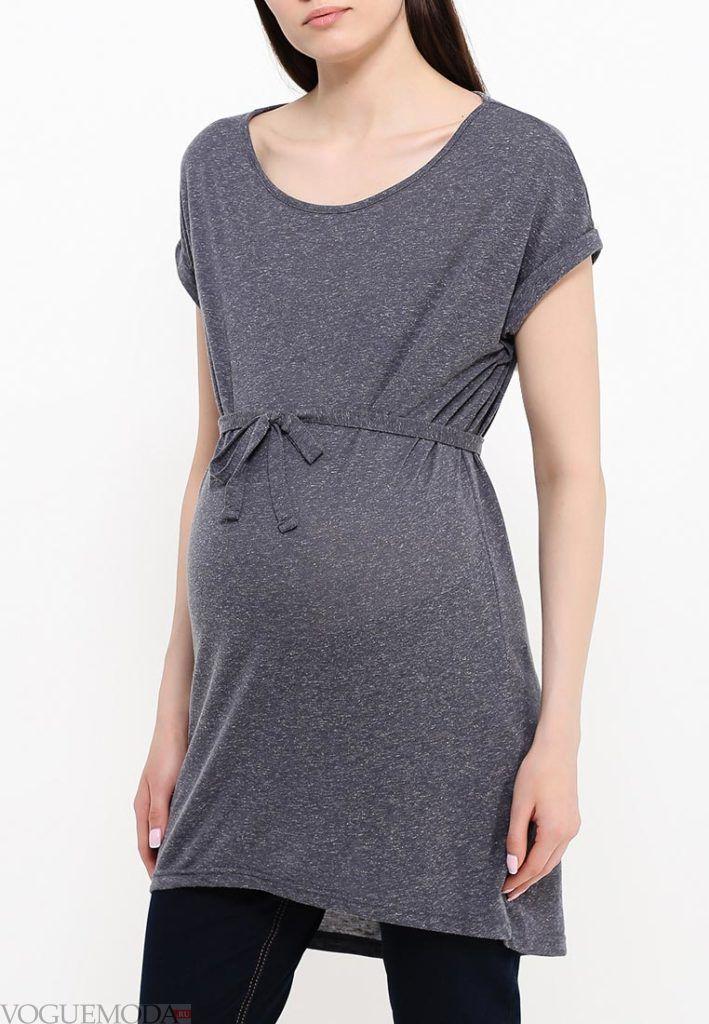 туника для беременных с поясом