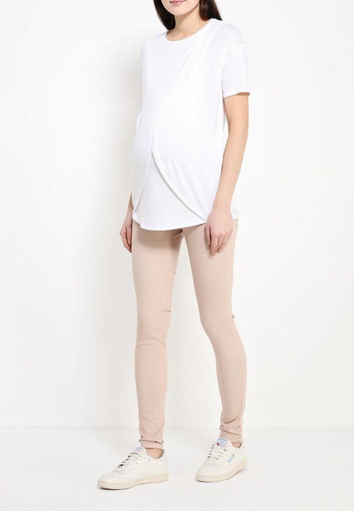 брюки для беременных беж