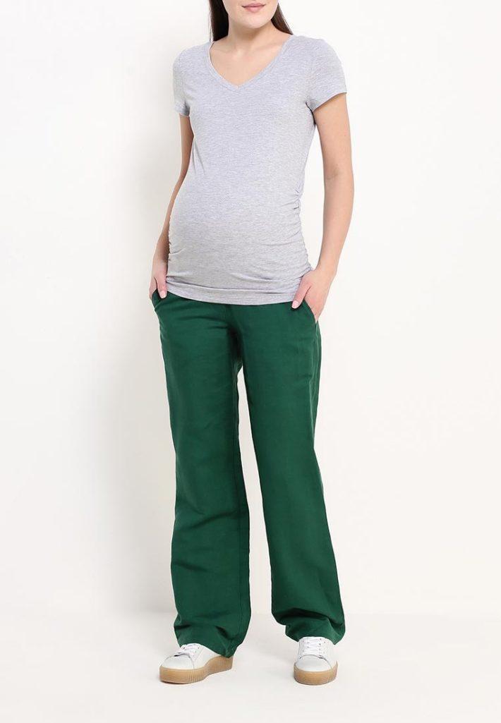 брюки для беременных оливковые