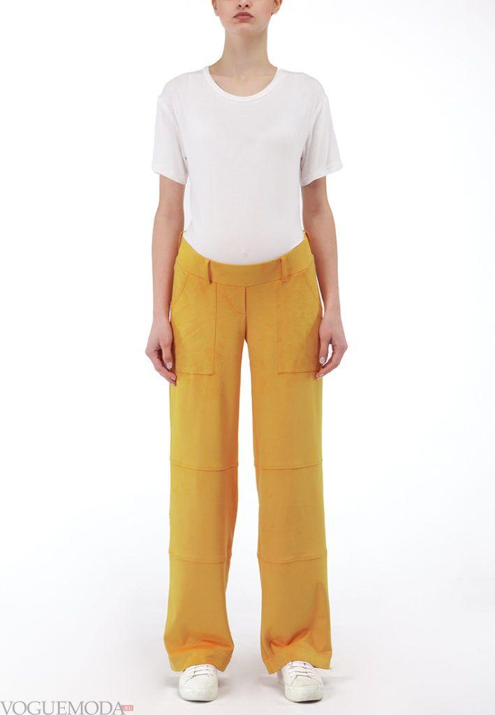 брюки для беременных жёлтые