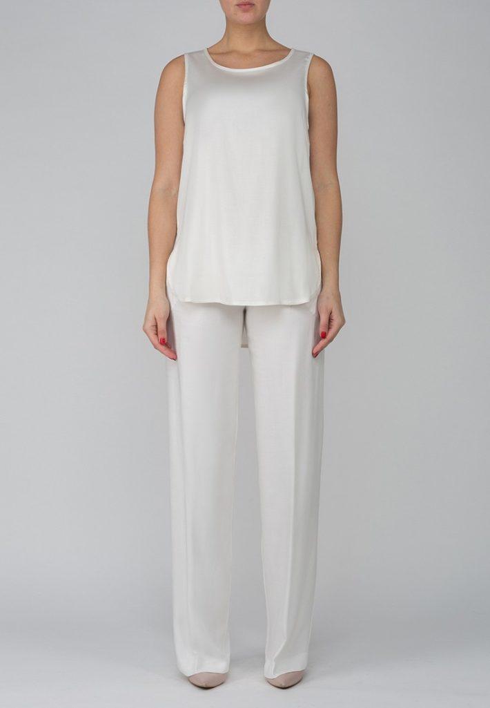 брюки для беременных белые