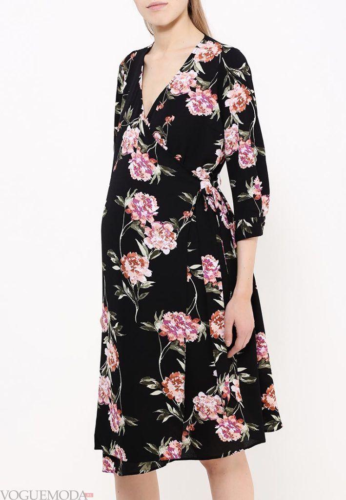 платье для беременных с цветок