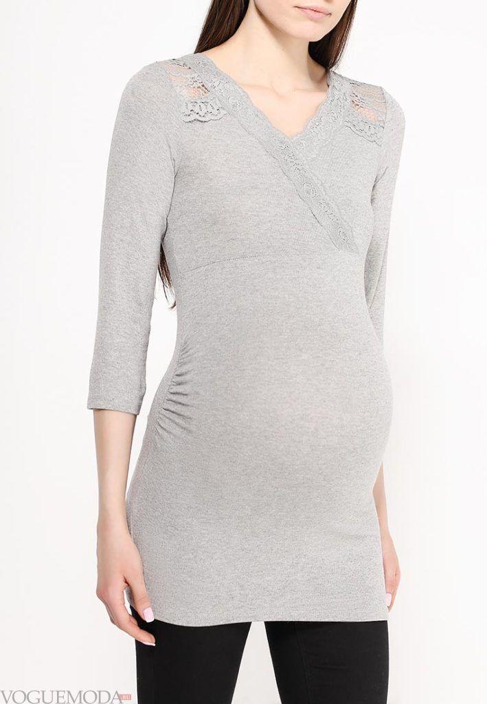 свитер для беременных длинный