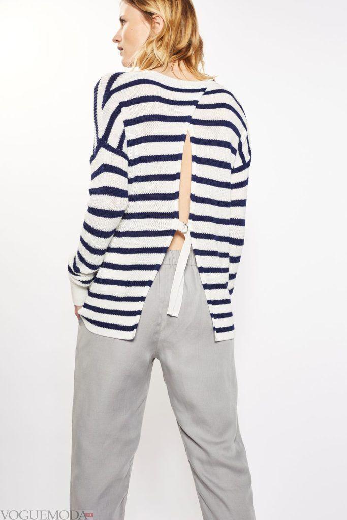 полосатый свитер для беременных