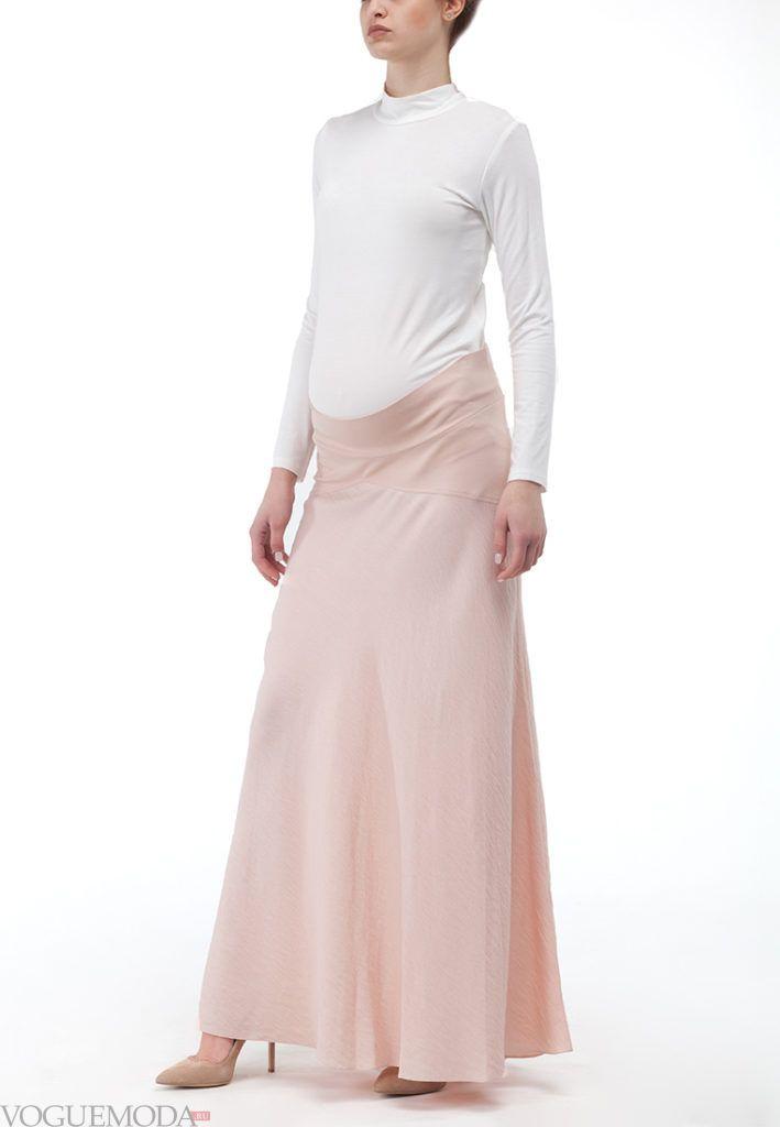 юбка для беременных беж