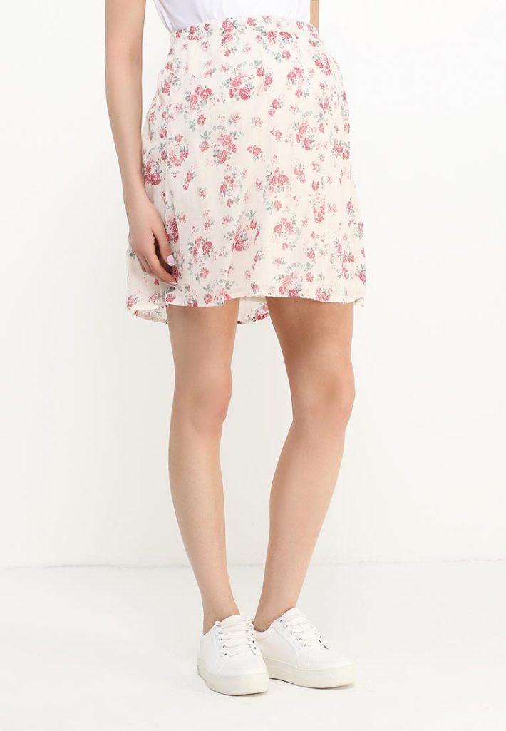 юбка для беременных в цветок