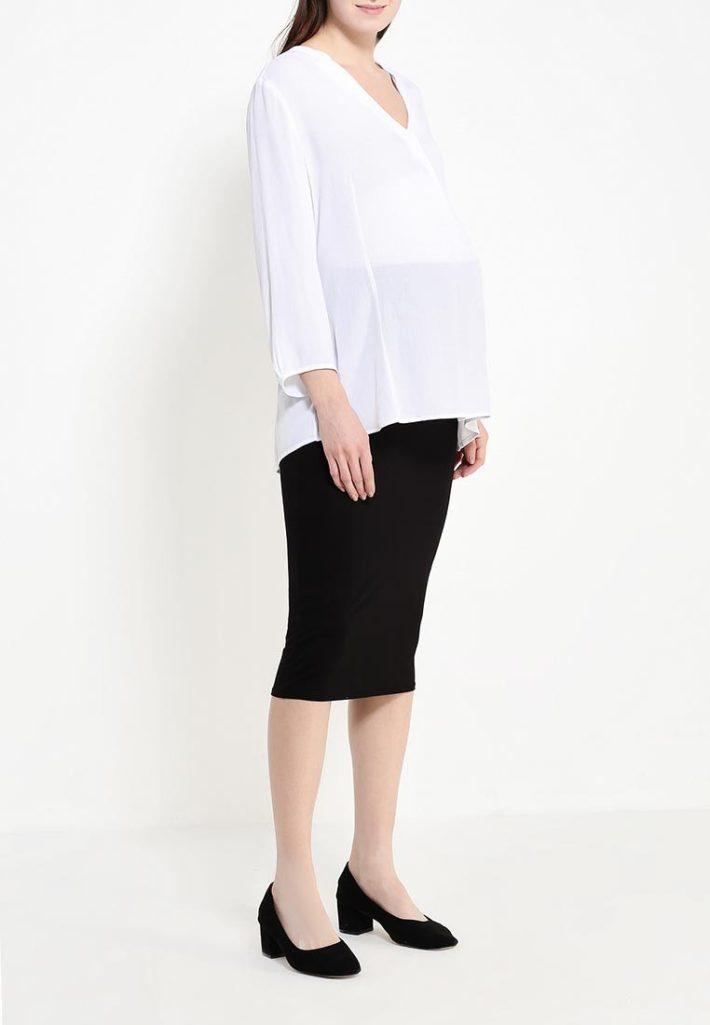 Мода для беременных 2021: юбка чёрная
