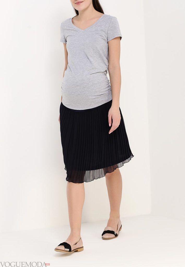юбка для беременных шифоновая