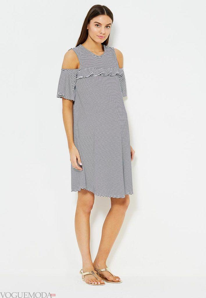 платье для беременных полоску