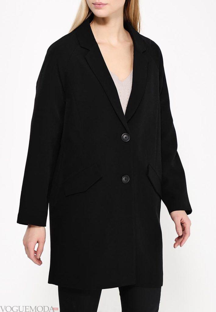 пальто для беременных чёрное