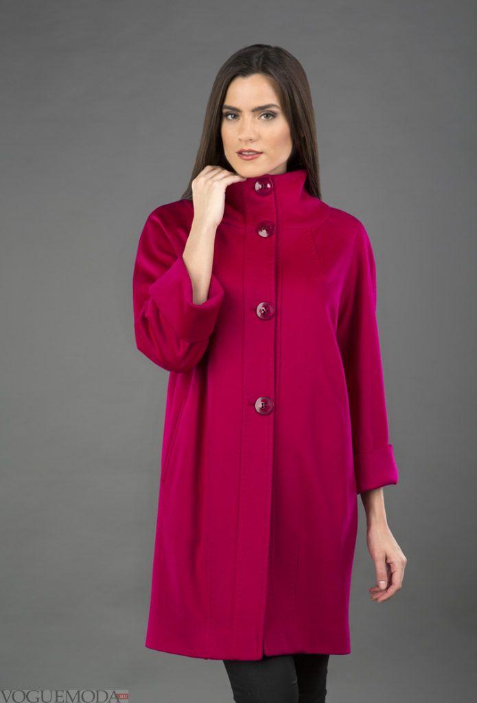 пальто для беременных фуксия