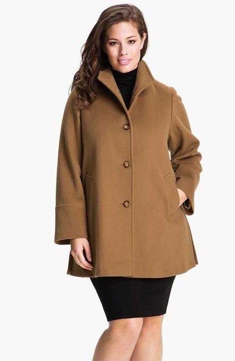 пальто для беременных коричневое