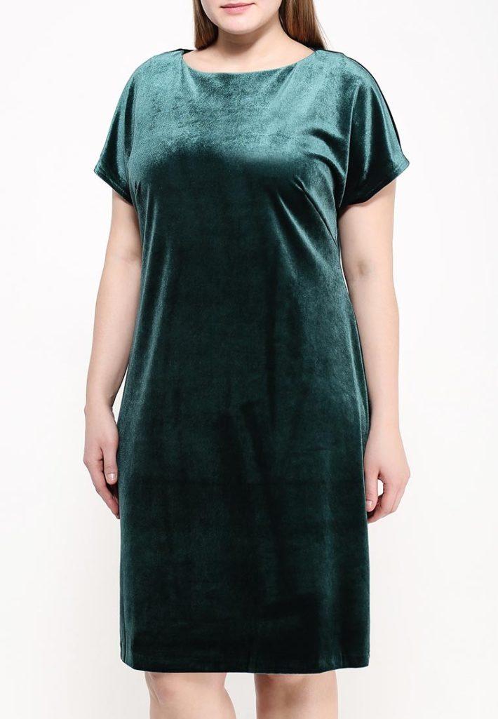 платье для полных зеленое