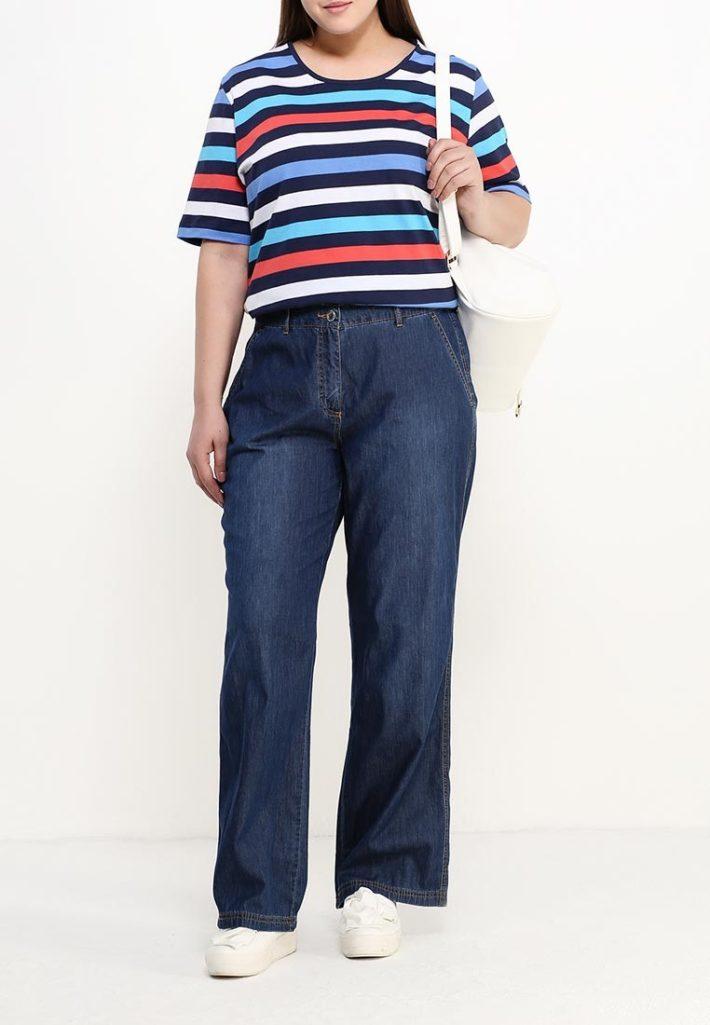 брюки для полных джинс