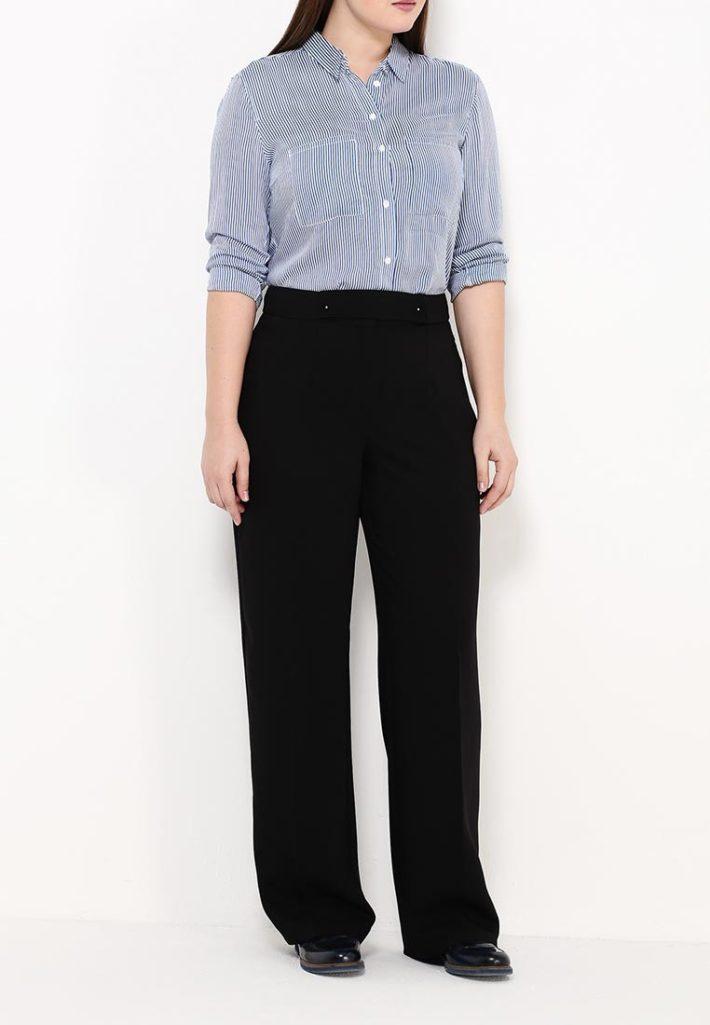 брюки для полных черные