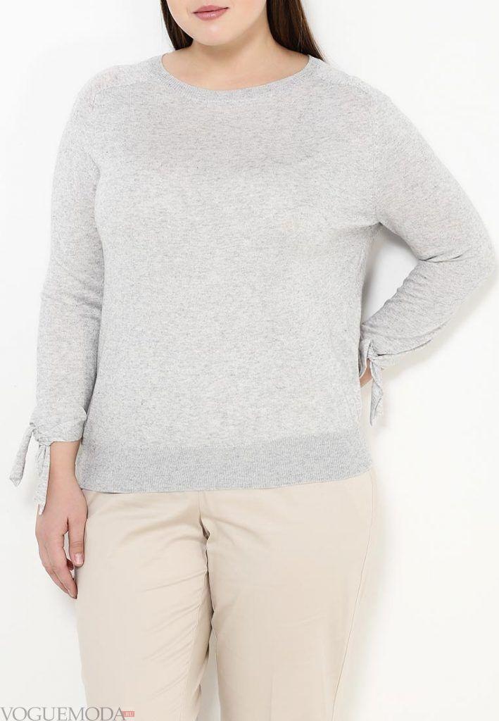 лук для полных из свитером