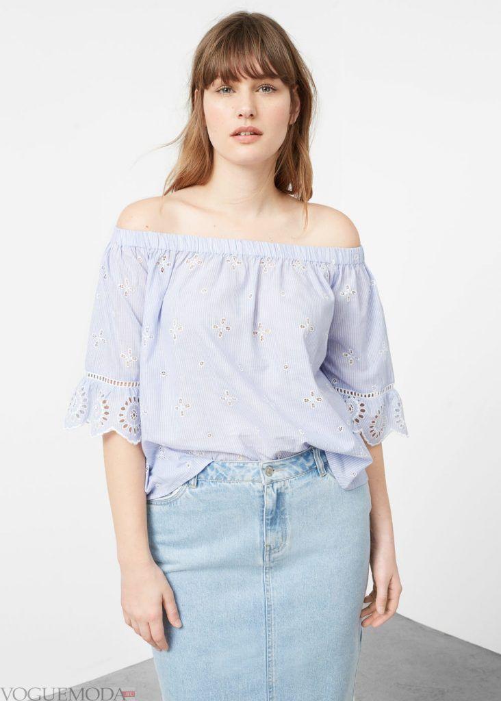 юбка для полных джинсовая