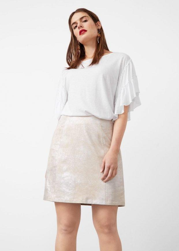 юбка для полных светлая