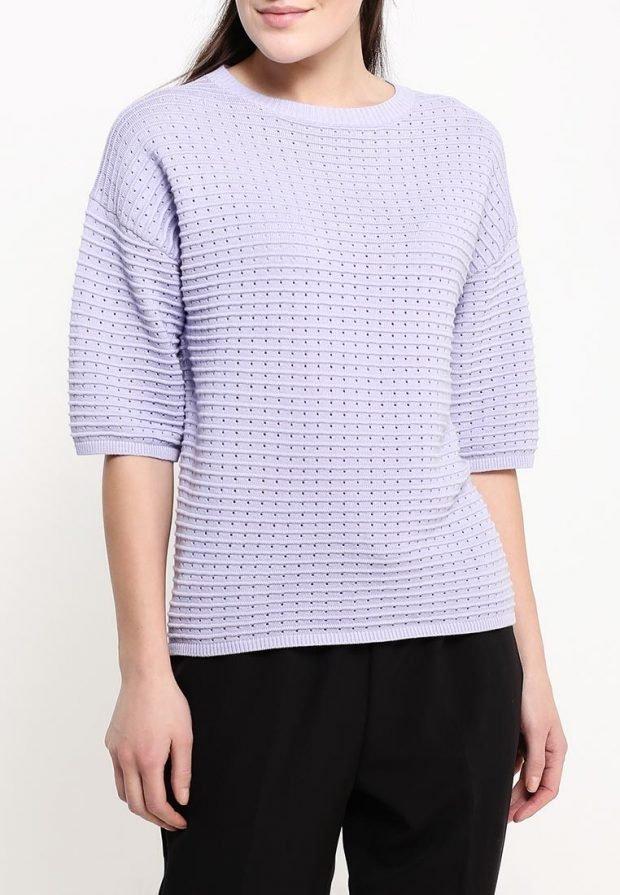 свитер для полных короткий рукав