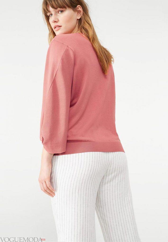 свитер для полных нюдовый