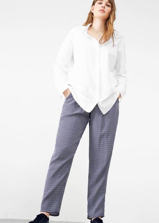 брюки для полных с принтом