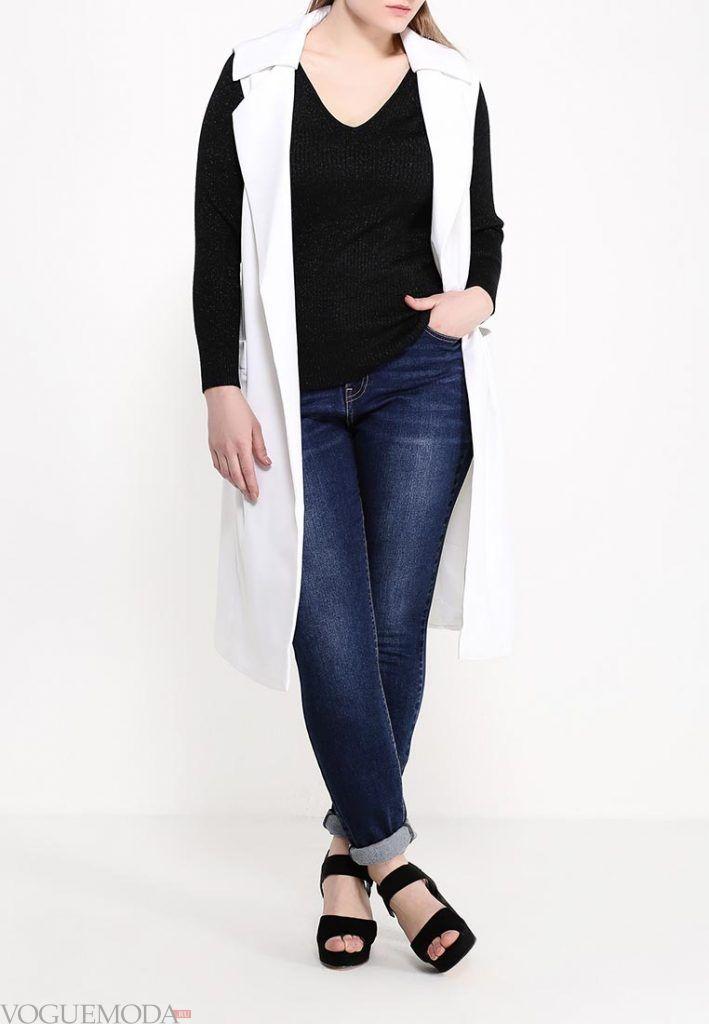 брюки для полных белый