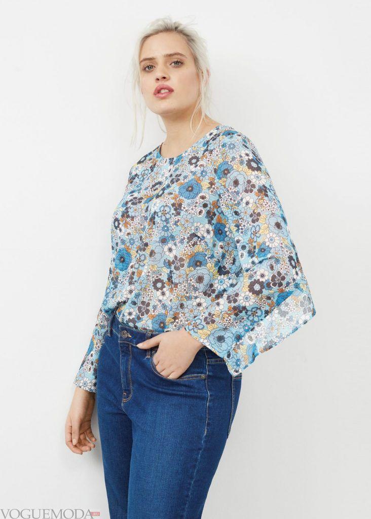 мода для полных блуза