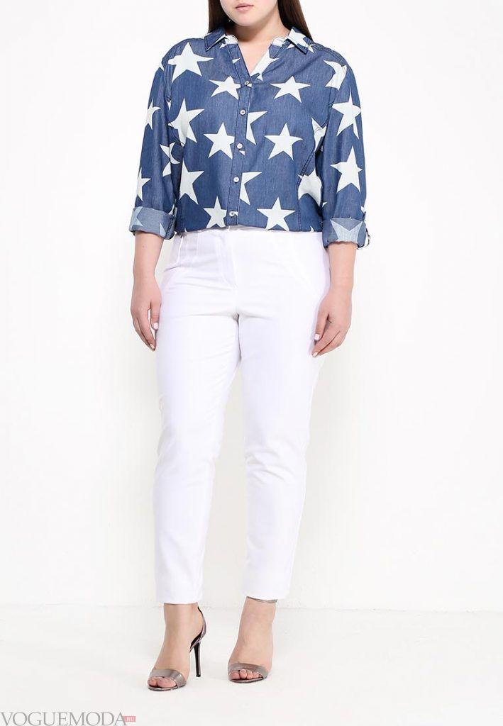 мода для полных брюки