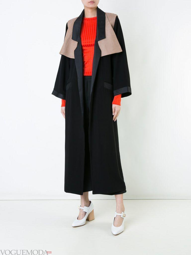 плащи 2019 2020: модный с отворотом
