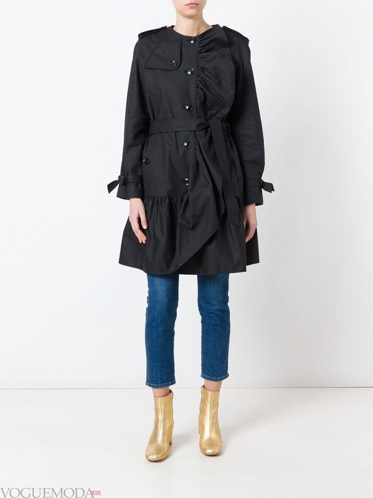плащи 2019 2020: модный с бантами