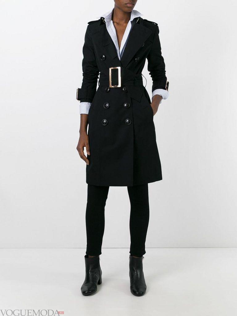 плащи 2019 2020: модный с поясом