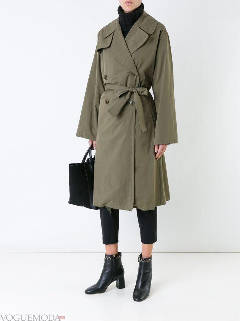 модный женский двубортный зеленый
