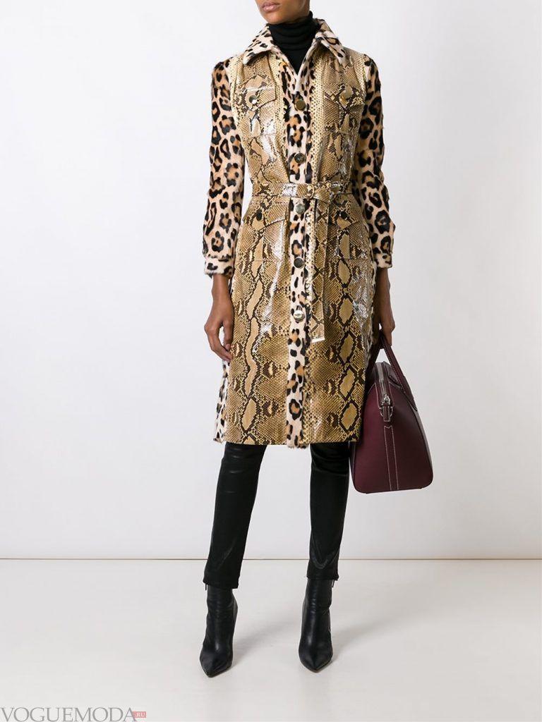 модный женский замшевый с запахом леопард